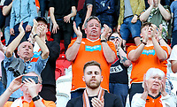 Blackpool fans applaud their team after the match<br /> <br /> Photographer Alex Dodd/CameraSport<br /> <br /> The EFL Sky Bet League One - Rotherham United v Blackpool - Saturday 5th May 2018 - New York Stadium - Rotherham<br /> <br /> World Copyright &copy; 2018 CameraSport. All rights reserved. 43 Linden Ave. Countesthorpe. Leicester. England. LE8 5PG - Tel: +44 (0) 116 277 4147 - admin@camerasport.com - www.camerasport.com