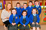 M/s Bridin Reen's junior class at Asdee NS. Front : Ella Sacnlan, Ella McNamara & Brid Anne Long. Back : M/s Bridin Reen, Aidan McEntee, Adam Scanlan, Cathal Hayes & Darragh Stack.