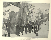 """""""A midwinter day's outing.""""<br /> """"Directors of the Pasadena Board of Trade, January 16, 1897.<br /> 11:30 a.m., frolic in the snow.""""<br /> <br /> From """"Illustrated Souvenir Book Showing a Few Pasadena Homes With Short Descriptive Data"""", issued by direction of the Board of Trade of Pasadena, California, 1897"""