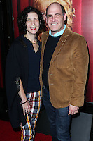 HOLLYWOOD, LOS ANGELES, CA, USA - NOVEMBER 05: Linda Brettler, Matthew Weiner arrive at the Los Angeles Premiere Of HBO's 'The Comeback' held at the El Capitan Theatre on November 5, 2014 in Hollywood, Los Angeles, California, United States. (Photo by Xavier Collin/Celebrity Monitor)