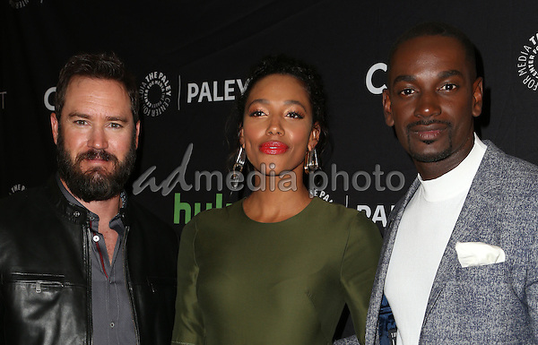 08 September 2016 -  Beverly Hills, California - Mark-Paul Gosselaar, Kylie Bunbury, Mo McRae. The Paley Center For Media's PaleyFest 2016 Fall TV Preview: PITCH - FOX held at The Paley Center for Media. Photo Credit: Faye Sadou/AdMedia