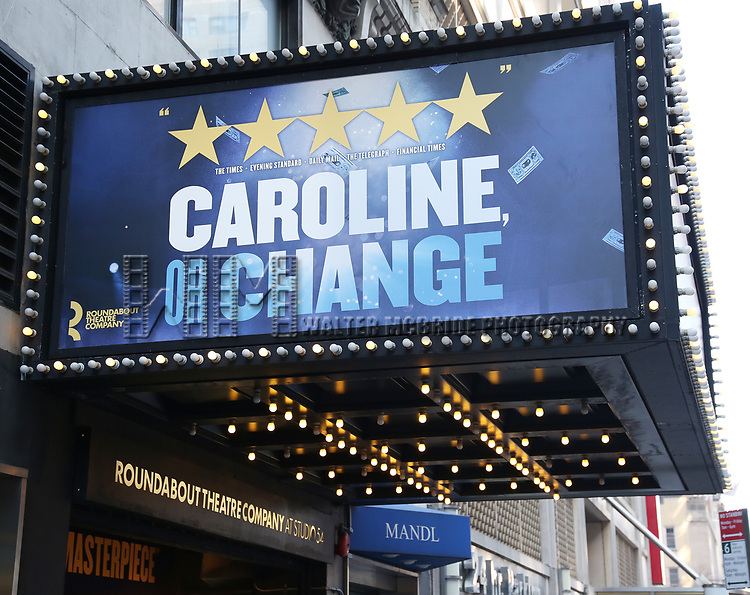 "Theatre Marquee unveiling  for the  Roundabout Theatre Company's revival of the Tony Kushner-Jeanine Tesori musical ""Caroline or Change"" at Studio 54 on January 24, 2020 in New York City."