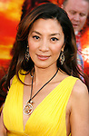 "Actress Michelle Yeoh arrives at the American Premiere of ""The Mummy: Tomb Of The Dragon Emperor at the Gibson Amphitheatre on July 27, 2008 in Universal City, California."