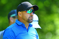 Darren Fichardt's glasses reflect the 5th fairway from the 5th tee during the BMW PGA Golf Championship at Wentworth Golf Course, Wentworth Drive, Virginia Water, England on 26 May 2017. Photo by Steve McCarthy/PRiME Media Images.