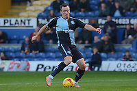 Wycombe Wanderers Garry Thompson shoots on goal during the Sky Bet League 2 match between Mansfield Town and Wycombe Wanderers at the One Call Stadium, Mansfield, England on 31 October 2015. Photo by Garry Griffiths.