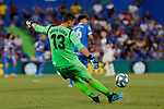 David Soria of Getafe CF during La Liga match between Getafe CF and Deportivo Alaves at Colisseum Alfonso Perez in Getafe, Spain. August 31, 2019. (ALTERPHOTOS/A. Perez Meca)