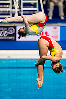 GIRDAUSKAITE Indre Marija, GREEN ANGERAME Genevieve LTU<br /> Diving <br /> Women's 3m Synchro Springboard Preliminary<br /> Day 04 17/07/2017 <br /> XVII FINA World Championships Aquatics<br /> Duna Arena Budapest Hungary July 15th - 30th 2017 <br /> Photo @A.Masini/Deepbluemedia/Insidefoto