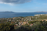 The seaside village of Agioi Apostoloi, 50 kilometres north-east of Athens Greece