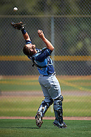 Tampa Bay Rays Nick Ciuffo (14) during a minor league Spring Training game against the Boston Red Sox on March 23, 2016 at Charlotte Sports Park in Port Charlotte, Florida.  (Mike Janes/Four Seam Images)