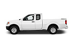 Car Driver side profile view of a 2017 Nissan Frontier S-King-Cab 4 Door Pickup Side View