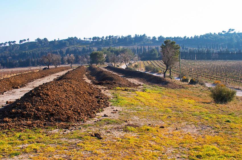 Organic bio-dynamic manure to be used as fertiliser at Mas de Gourgonnier, in Les Baux de Provence, Bouche du Rhone, France