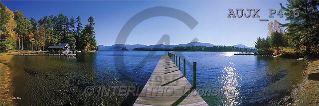 Dr. Xiong, LANDSCAPES, panoramic, photos, Autumn at Lake George, New York, USa(AUJXP436,#L#)