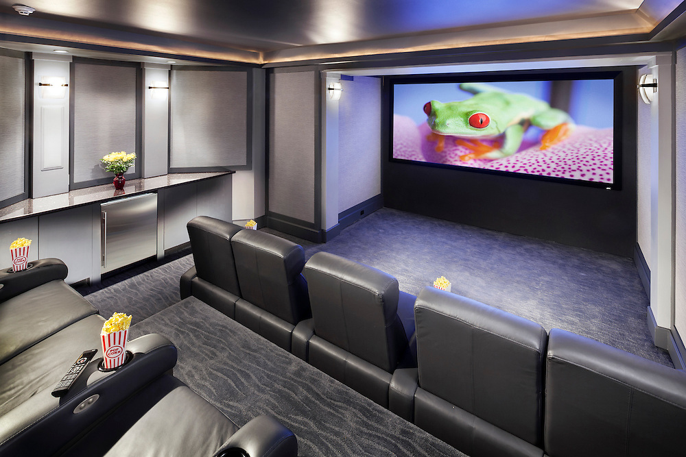 Home Theater with Automation Controls