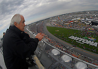 Feb 15, 2007; Daytona, FL, USA; Nascar Nextel Cup Series team owner Roger Penske observes action during race one of the Gatorade Duel at Daytona International Speedway. Mandatory Credit: Mark J. Rebilas