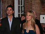 Artist of painting Jim Warren, John Stamos, Marcia Tovsky at the Fame-Wall World Premiere Launch Party and Inaugural Portrait Unveiling Honoring John Stamos currently starring in Broadway's Bye, Bye Birdie on September 10, 2009 at Trattoria Dopo Teatro, NYC - now Home of New Fame-Wall, NYC. Fame-Wall salutes those who have inspired people and made a significant impact through the world of art and entertainment. (Photo by Sue Coflin/Max Photos)