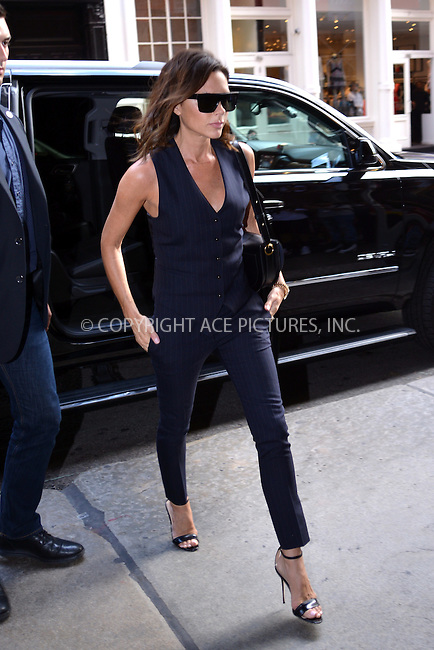 www.acepixs.com<br /> <br /> June 24 2016, New York City<br /> <br /> Victoria Beckham went to lunch at the Mercer Kitchen in Soho on June 24 2016 in New York City<br /> <br /> By Line: Curtis Means/ACE Pictures<br /> <br /> <br /> ACE Pictures Inc<br /> Tel: 6467670430<br /> Email: info@acepixs.com<br /> www.acepixs.com