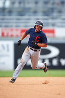 Zack Smith (4) of Eastern Wayne High School in Goldsboro, North Carolina playing for the Cleveland Indians scout team during the East Coast Pro Showcase on July 30, 2015 at George M. Steinbrenner Field in Tampa, Florida.  (Mike Janes/Four Seam Images)