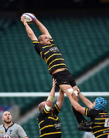Grant Randlesome of Cornwall wins the ball at a lineout. Bill Beaumont County Championship Division 1 Final between Cheshire and Cornwall on June 2, 2019 at Twickenham Stadium in London, England. Photo by: Patrick Khachfe / Onside Images