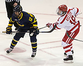 Ludvig Larsson (Merrimack - 12), Clayton Keller (BU - 19) - The visiting Merrimack College Warriors defeated the Boston University Terriers 4-1 to complete a regular season sweep on Friday, January 27, 2017, at Agganis Arena in Boston, Massachusetts.The visiting Merrimack College Warriors defeated the Boston University Terriers 4-1 to complete a regular season sweep on Friday, January 27, 2017, at Agganis Arena in Boston, Massachusetts.