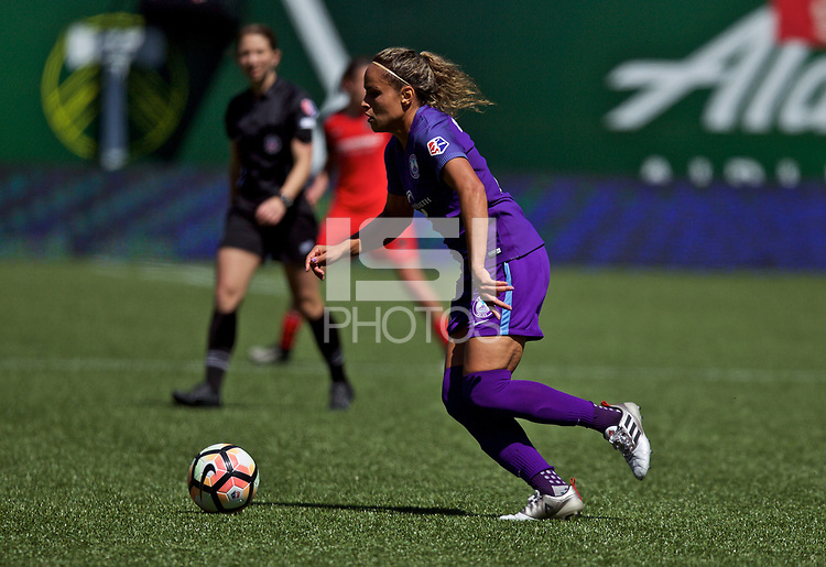 Portland, OR - Saturday April 15, 2017: Monica Hickmann Alves during a regular season National Women's Soccer League (NWSL) match between the Portland Thorns FC and the Orlando Pride at Providence Park.