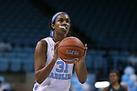 09 November 2015: North Carolina's Erika Johnson. The University of North Carolina Tar Heels hosted the University of Mount Olive Trojans at Carmichael Arena in Chapel Hill, North Carolina in a 2015-16 NCAA Women's Basketball exhibition game. UNC won the game 99-45.