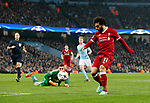 Liverpool's Mohamed Salah scoring his sides opening goal during the Champions League Quarter Final 2nd Leg match at the Etihad Stadium, Manchester. Picture date: 10th April 2018. Picture credit should read: David Klein/Sportimage