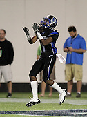 First Coast Buccaneers wide receiver Christopher Black #1 fields a kick off during the fourth quarter of the Florida High School Athletic Association 7A Championship Game at Florida's Citrus Bowl on December 16, 2011 in Orlando, Florida.  Manatee defeated First Coast 40-0.  (Photo By Mike Janes Photography)