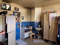 A cell in Bois-d'Arcy prison. Opened in 1980, it houses 770 inmates of whom 215 are on remand.