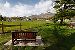 Keswick 1 Kendal 1, 15/04/2017. Fitz Park, Westmoreland League. A bench overlooking the pitch. Photo by Paul Thompson.