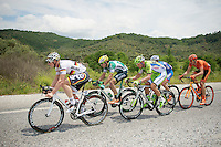 5 men breakaway group of the day including André Greipel (DEU/Lotto-Belisol), Wesley Kreder (NLD/Wanty-Groupe Gobert), Arman Kamyshev (KAZ/Astana), Matthias Krizek (AUT/Cannondale) &amp; Adrian Kurek (POL/CCC-Polsat Polkowice)<br /> <br /> Tour of Turkey 2014<br /> stage 6