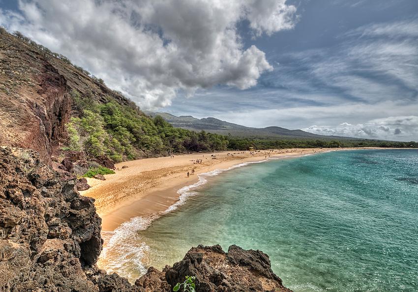 View of Big Beach, Makena State Park, Maui