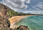 View of Big Beach, Makena State Park, Maui