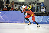 SPEED SKATING: SALT LAKE CITY: 19-11-2015, Utah Olympic Oval, ISU World Cup, training, Hong Zhang (CHN), ©foto Martin de Jong