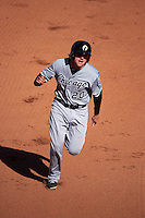 Glendale Desert Dogs second baseman Trey Michalczewski (20) running the bases during an Arizona Fall League game against the Mesa Solar Sox on October 14, 2015 at Sloan Park in Mesa, Arizona.  Glendale defeated Mesa 7-6.  (Mike Janes/Four Seam Images)