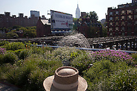 NEW YORK - JUNE 27: Activity on the Highline in New York City.(Photo by Landon Nordeman)