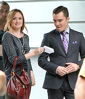 August 17, 2012 Kaylee Defer, Ed Westwick  shooting on location for Gossip Girl in New York City. &copy; RW/MediaPunch Inc. /NortePhoto.com<br />