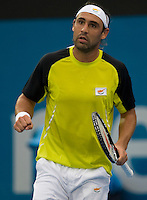 Marcus Baghdatis (GRE) against Mardy Fish (USA) in the Semi Finals of the Mens Singles. Baghdatis beat Fish 6-4 6-7 7-6..International Tennis - Medibank International Sydney - Wed 15 Jan 2010 - Sydney Olympic Park  Tennis Centre- Sydney - Australia ..© Frey - AMN Images, 1st Floor, Barry House, 20-22 Worple Road, London, SW19 4DH.Tel - +44 20 8947 0100.mfrey@advantagemedianet.com