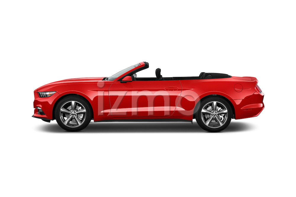 Car Driver side profile view of a 2016 Ford Mustang V6 2 Door Convertible Side View