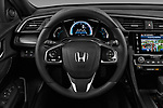 Car pictures of steering wheel view of a 2017 Honda Civic Executive 5 Door Hatchback Steering Wheel