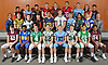 The 2017 Newsday All-Long Island football team poses for a group portrait at company headquarters on Monday, Dec. 11, 2017. Appearing are, FRONT ROW, FROM LEFT: Andrew DeSantis of Garden City, Kevon Hall of Roosevelt, Briant DeFelice of Farmingdale, Dylan Laube of Westhampton, Tommy Heuer of Oceanside, Liam McIntyre of Westhampton, Andrew Chirico of Seaford and Trevor Yeboah-Kodie of Garden City. MIDDLE ROW, FROM LEFT: Coach Rob Blount of Oceanside, Jason Seiter of Bethpage, Ricky Conway of Lindenhurst, George Wichelns of Connetquot, Owen Glascoe of Massapequa, Jeremy Ruckert of Lindenhurst, Jake Lazzaro of Oceanside, Chester Anderson of Elmont, Matt Sluka of Kellenberg and Coach Bill Parry of Westhampton. BACK ROW, FROM LEFT: Ernesto Mitchell of Half Hollow Hills East, Bryan Aguilar of Oceanside, Christian Rodas of Lawrence, Matt Aloni of Plainedge, Dan Carroll of Sachem East, Robert Fitzsimmons of Freeport, Michael Scibelli of Oceanside, Jimmy Regateiro of Half Hollow Hills West and David Estrella of North Babylon. Missing from photo: Jack LaVache of Wantagh.
