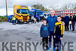 Eoin, Leonard and Cian Mangan having a look at the trucks on display at the Abbeydorney Vintage Society Charity Truck Run in aid of Childline on Sunday