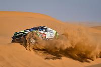12th January 2020, Riyadh, Saudi Arabia;  319 Zala Vaidotas (ltu), Jurgelenas Saulius (lt), Mini, Agrorodeo, during Stage 7 of the Dakar 2020 between Riyadh and Wadi Al-Dawasir, 741 km - SS 546 km, in Saudi Arabia - Editorial Use
