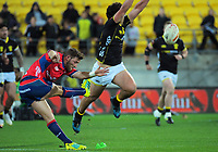 Action from the Mitre 10 Cup rugby match between Wellington Lions and Tasman Makos at Westpac Stadium in Wellington, New Zealand on Sunday, 19 August 2018. Photo: Dave Lintott / lintottphoto.co.nz