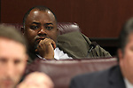 Nevada Assemblyman Jason Frierson, D-Las Vegas, listens in committee at the Legislature in Carson City, Nev., on Thursday, March 17, 2011..Photo by Cathleen Allison