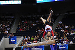 21 APR 2012:  Jaime Pisani of the University of Arkansas performs on the beam during the Division I Women's Gymnastics Championship held at the Gwinnett Center Arena in Duluth, GA. Joshua Duplechian/NCAA Photos