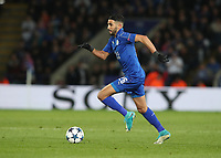 Leicester City's Riyad Mahrez <br /> <br /> Photographer Stephen White/CameraSport<br /> <br /> UEFA Champions League Quarter Final Second Leg - Leicester City v Atletico Madrid - Tuesday 18th April 2017 - King Power Stadium - Leicester <br />  <br /> World Copyright &copy; 2017 CameraSport. All rights reserved. 43 Linden Ave. Countesthorpe. Leicester. England. LE8 5PG - Tel: +44 (0) 116 277 4147 - admin@camerasport.com - www.camerasport.com