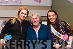 Carrie and Vivienne Lonergan with their grandmother Tina Lonergan at their baby shower in Gallys Restaurant on Friday night last.