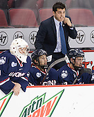 Tanner Creel (UConn - 1), Max Kalter (UConn - 18), Joe Pereira (UConn - Assistant Coach), Jesse Schwartz (UConn - 17) - The Boston University Terriers defeated the visiting University of Connecticut Huskies 4-2 (EN) on Saturday, October 24, 2015, at Agganis Arena in Boston, Massachusetts.