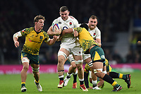 Mark Wilson of England takes on the Australia defence. Quilter International match between England and Australia on November 24, 2018 at Twickenham Stadium in London, England. Photo by: Patrick Khachfe / Onside Images