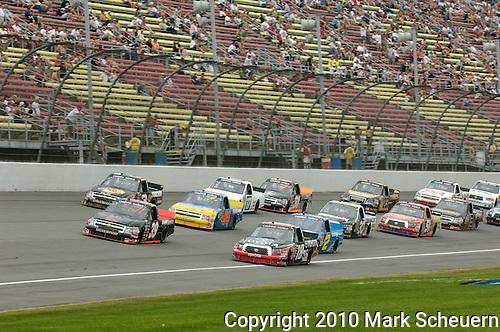 June 12 2010:  NASCAR Camping World Truck Series race VFW 200 at Michigan International Speedway, Brooklyn, Michigan